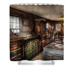 Graphic Artist - Upper And Lower Case  Shower Curtain by Mike Savad