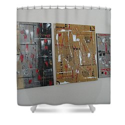 Shower Curtain featuring the painting Graphic Jazz I II IIi by Sharyn Winters