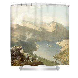 Grasmere From Langdale Fell, From The Shower Curtain by James Baker Pyne