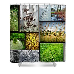 Grass Collage Variety Shower Curtain