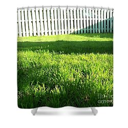 Grass Shadows Shower Curtain by Susan Williams