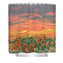 Grassland Sunset Shower Curtain