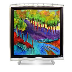 Grate Mountain Shower Curtain by Elizabeth Fontaine-Barr