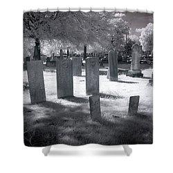 Graveyard Shower Curtain by Terry Reynoldson
