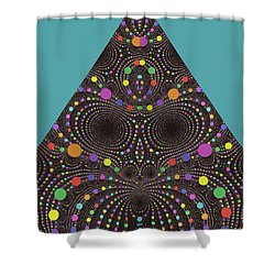 Shower Curtain featuring the digital art Gravity And Magnetism by Mark Greenberg