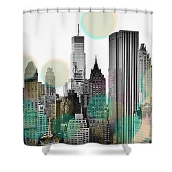 Gray City Beams Shower Curtain by Susan Bryant