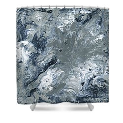 Gray Color Of Energy Shower Curtain by Ania Milo