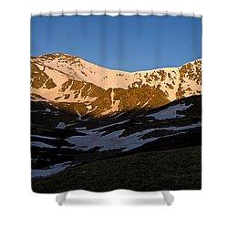 Grays Peak And Torreys Peak Panorama Shower Curtain by Benjamin Reed