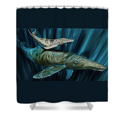 Graywhale Momma And Calf Shower Curtain