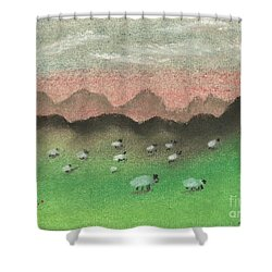 Grazing In The Hills Shower Curtain