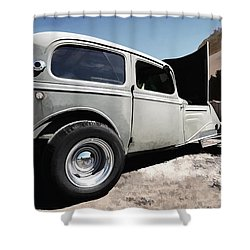 Shower Curtain featuring the photograph Greaserama 2011 by Liane Wright