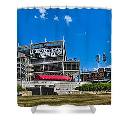 Great American Ball Park Shower Curtain