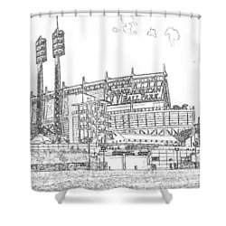 Great American Ball Park Line Shower Curtain