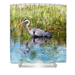 Great Blue Hunter Shower Curtain