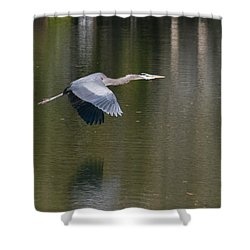 Great Blue Over Green Shower Curtain
