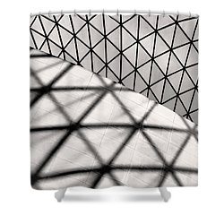 Great Court Abstract Shower Curtain by Rona Black