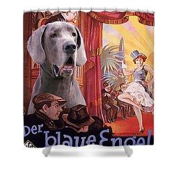 Great Dane Art Canvas Print - Der Blaue Engel Movie Poster Shower Curtain