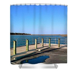 Great Day For Fishing In The Marsh Shower Curtain by Amazing Photographs AKA Christian Wilson