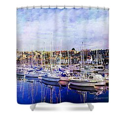 Great Day For Getting Out On The Water Featured In Abc-newbies And Photography And Textures Groups Shower Curtain by EricaMaxine  Price