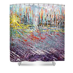 Great Day In Chicago - Sold Shower Curtain by George Riney