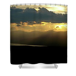 Shower Curtain featuring the photograph Great Divide Light by Jeremy Rhoades