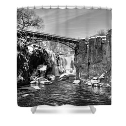 Great Falls In The Winter Shower Curtain