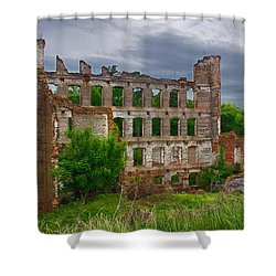 Great Falls Mill Ruins Shower Curtain
