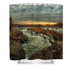 Great Falls Virginia Winter 2014 Shower Curtain