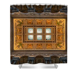 Great Hall Ceiling Library Of Congress Shower Curtain by Steve Gadomski