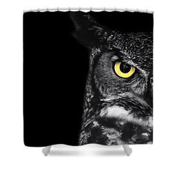 Great Horned Owl Photo Shower Curtain