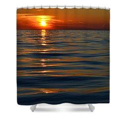 Great Lake Sunset Shower Curtain