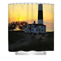 Great Lakes Lighthouse Big Sable Point Shower Curtain
