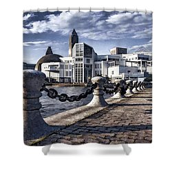 Shower Curtain featuring the photograph Great Lakes Science Center - Cleveland Ohio - 1 by Mark Madere