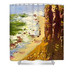 Shower Curtain featuring the painting Great Ocean Road by Pamela  Meredith