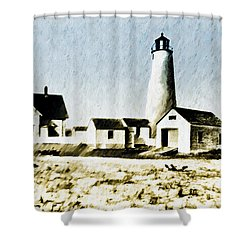 Great Point Lighthouse Nantucket Shower Curtain by Bill Cannon