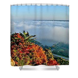 Great River Road Fog Shower Curtain