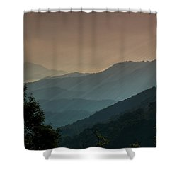 Shower Curtain featuring the photograph Great Smoky Mountains Blue Ridge Parkway by Patti Deters