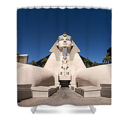 Great Sphinx Of Giza Luxor Resort Las Vegas Shower Curtain by Edward Fielding