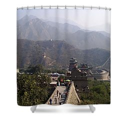 Great Wall Of China At Badaling Shower Curtain