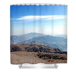 Great Wall Of China - Mutianyu Shower Curtain by Yew Kwang