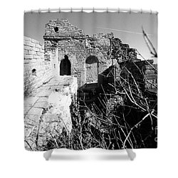 Shower Curtain featuring the photograph Great Wall Ruins by Yew Kwang