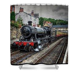 Great Western Locomotive Shower Curtain by Adrian Evans