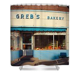 Greb's Bakery Pittsburgh Shower Curtain by Jim Zahniser