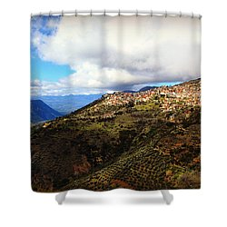 Greece Countryside Shower Curtain