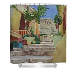 Shower Curtain featuring the painting Greece by Joshua Morton