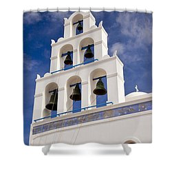 Greek Church Bells Shower Curtain by Brian Jannsen