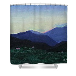 Greek Countryside Shower Curtain