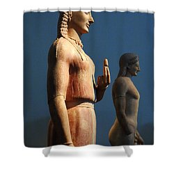 Greek Sculpture Athens 1 Shower Curtain by Bob Christopher