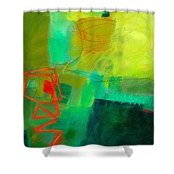 Green And Red #1 Shower Curtain by Jane Davies