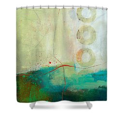 Green And Red 2 Shower Curtain by Jane Davies